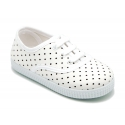 Cotton canvas bamba shoes with polka dots print.