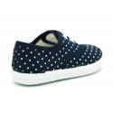 Cotton canvas bamba shoes with polka dots print.