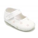 Mercedita con cierre adherente en lona con estrellas para bebés.