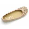 Classic Ballet flats in patent leather with english design.