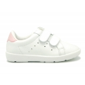 New washable leather tennis shoes with dual velcro strap.