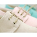 Serratex canvas Laces up shoes espadrille style in pastel colors.