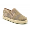 Cotton canvas espadrille shoes with camouflage print for kids.