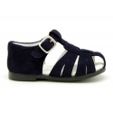 New suede leather sandals for little boys.