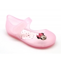 Jelly shoes ballet flat style with velcro strap and MINNIE design.