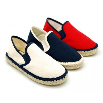 New Classic Combined cotton canvas espadrille shoes.