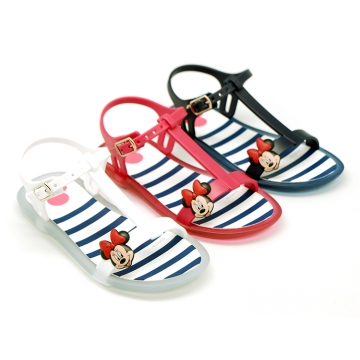 Jelly shoes sandal style with MINNIE design.