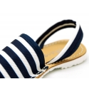 NAUTICAL Mnorquina sandals with rear strap.