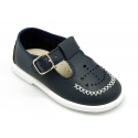 Little Washable leather sandal shoes with ANCHOR design.