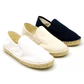 New classic cotton canvas espadrille shoes.