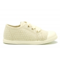 New cotton canvas Bamba shoes with polka dot design.