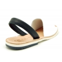 White leather Menorquina sandal shoes with combined rear strap.