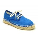 New soft cotton cavas laces up shoes espadrille style.
