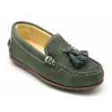 EXTRA SOFT nappa leather Moccasin shoes with tassels.