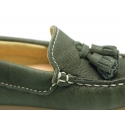 EXTRA SOFT nappa leather Moccasin shoes with tassels for little kids.