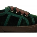 Casual sneaker shoes with ties closure in velvet canvas.