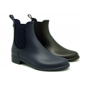 New ankle rain boots with elastic band with square design.