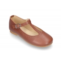 Little T-Strap Mary Jane shoes in nappa leather and seasonal colors.
