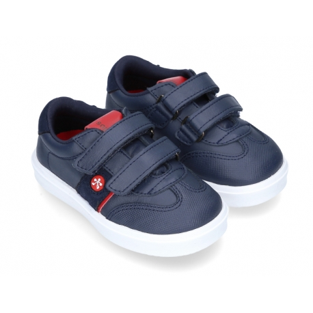 Washable leather TENNIS style shoes to dress laceless.