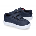 New Washable leather TENNIS style shoes to dress with velcro strap.