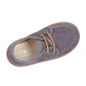 Autumn winter canvas moccasin shoes wallabee style.