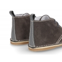 Little Safari boots for babies in suede leather with SUPER FLEXIBLE soles.