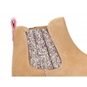 New suede leather ankle boots with elastic band with MELANGE GLITTER design.
