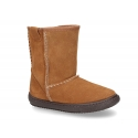 Suede leather boot shoes Australian style with fake hair lining.