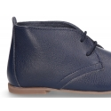 New Nappa leather ankle boot shoes with thinner shape with shoelaces.