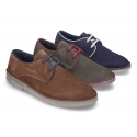 New classic suede leather Blucher style shoes for gentleman.