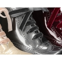 New classic Pascuala style ankle boots in METAL patent leather.