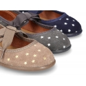 Litte Mary Jane shoes angel style with STARS print design.