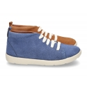 New casual tennis style shoes ankle boots style in suede leather.