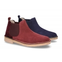 New ankle boots in suede leather with velvet counter in large sizes.