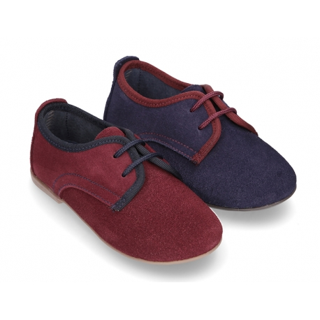 New Oxford style shoes with thinner shape in suede leather.