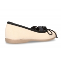 Autumn-winter canvas FASHION ballet flats with crossed bands.