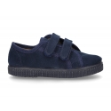New Autumn winter canvas BAMBAS shoes with double velcro strap.