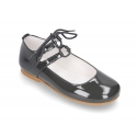 New LIMITED EDITION Mary Jane shoes angel style in patent leather with double closure.