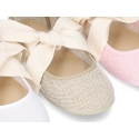 New Ballet Falt shoes or Mary Jane shoes angel style with big ribbon closure.