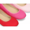New Cotton dress canvas Ballet flat shoes with elastic design for girls.