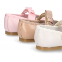 New Classic little Mary Jane shoes with hook and loop strap and BOW.