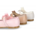 New Classi little Mary Jane shoes with velcro strap and ribbon.