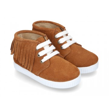 New Casual little ankle boot shoes with fringed design and sneaker style soles.