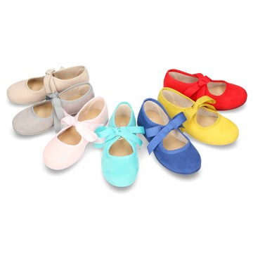New Spring summer canvas ballet flat angel style.