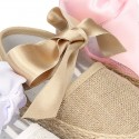 BABY metal linen espadrille shoes valenciana style.