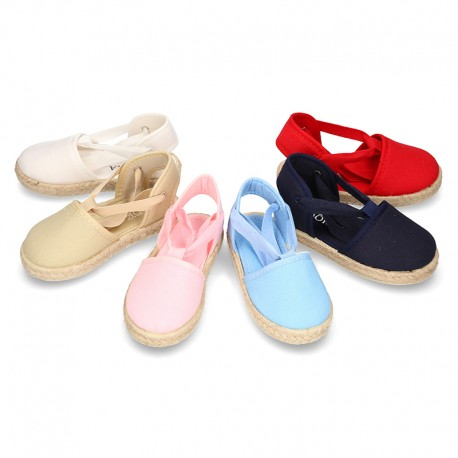Cotton Canvas Valenciana style espadrille shoes.