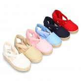 Cotton Canvas Girl Valenciana style espadrille shoes.