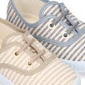 Cotton canvas Bamba shoes with STRIPES design.