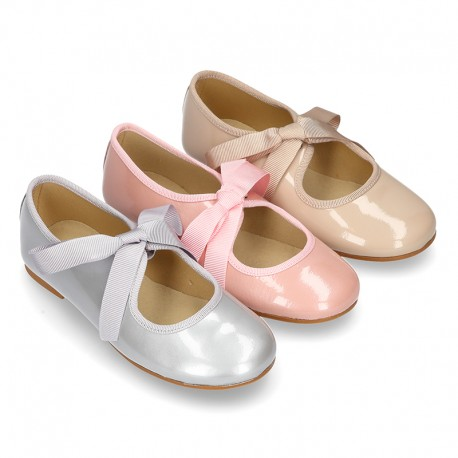 New METAL patent leather little Mary Jane shoes angel style.