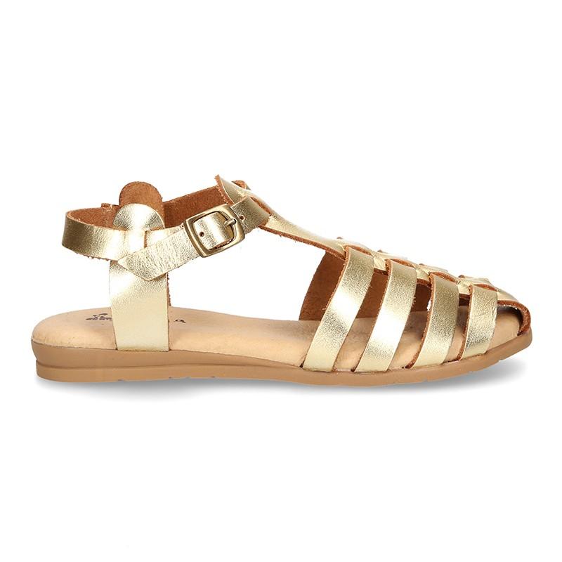 En Para Niñas Tienda Tipo Mujer De Sandalias Y Cangrejera Piel jcARS54q3L